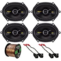 "2 x Kicker 40CS684 6x8"" 2-Way Speakers (2 Pairs), 2 X Metra 72-4568 Speaker Wire Harness for Select GM Vehicles (2 Pairs), Enrock Audio 16-Gauge 50 Foot Speaker Wire"