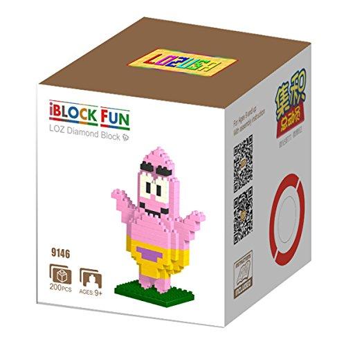 LOZUSA Cartoon Character 200 PCS Diamond Block Mini Figure Hero Micro Blocks Construction Model, Micro-Sized Building Set Parent-Child Games Building Blocks Children's Educational Toys
