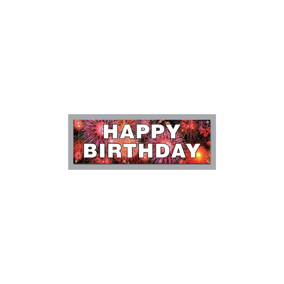 2x4 Happy Birthday Vinyl Banners Vinyl Signs by SignsinaSnap