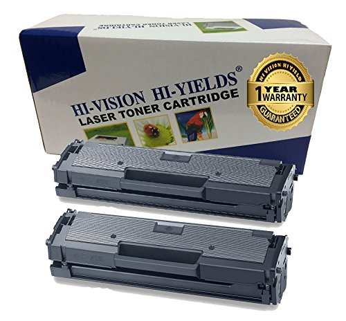 HI-VISION HI-YIELDS Compatible Toner Cartridge Replacement for Samsung MLT-D111S ( Black , 2 pk )