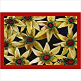 "Don Sawyer Flower Red Centers Tropical Rug Size: 3' 10"" x 5' 4"""