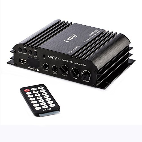Lepy LP-168plus Hi-Fi Stereo USB BT Audio Amplifier with Power Adapter& Remote Control by Lepy