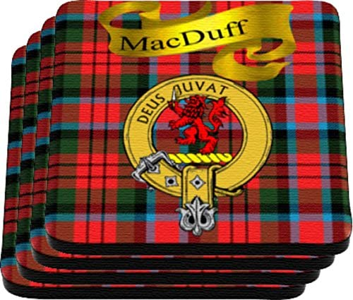 MacDuff Scottish Clan Tartan Rubber Drink Coaster