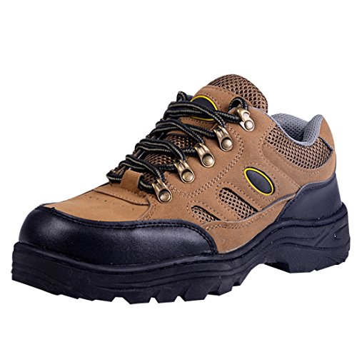 Puncture Work Brown Anti Work Shoes Boot Men's Prevention Optimal Smashing Resistant wXfqSWx8n
