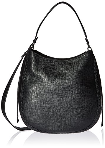 Rebecca Minkoff Unlined Convertible Hobo with Whipstich, Black by Rebecca Minkoff