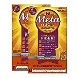 Cheap Metamucil Multi-Health Psyllium Fiber Supplement Sugar-Free Powder, Orange Flavored, 60 packets. (2×30 packets)