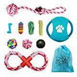 Dog Rope Toys for Small Medium Dogs - Set of 10 Quality Safe Cotton Chew Dog Toys