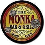 Monka Family Bar and Grill Patriotic Rubber Drink Coaster Set