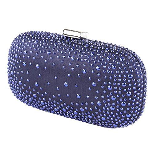 Bolsa de embrague, Morgana Azul, tela
