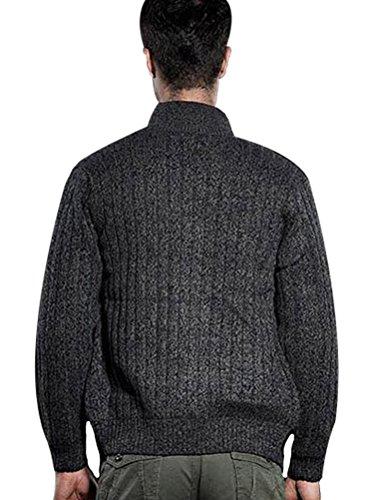 Pull Montant Style1 gris Toison Manteau Matchlife Nouveau Col Cardigans Homme nwqaYwvxZ