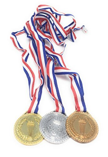 OTTC Torch Award Medals (2 Dozen) - Bulk - Gold, Silver, Bronze Medals - Olympic Style Award Medals - First Second Third Winner - Award Medals ()