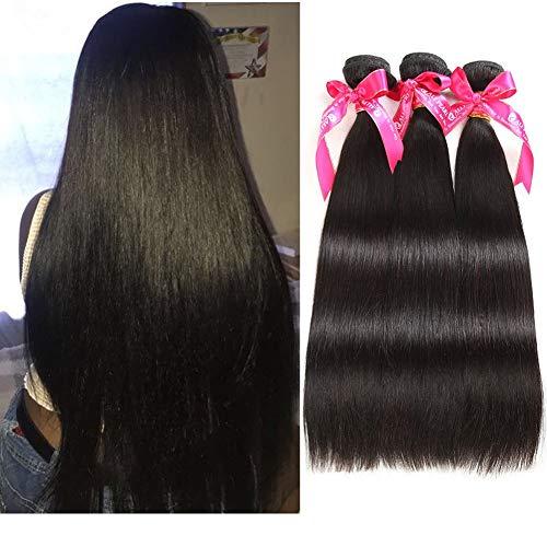 Alipearl Hair Brazilian Virgin Human Hair 3 Bundles Unprocessed Straight Hair 3 Bundles Hair Extentions Wholesale Hair Deal Ali Pearl Hair(14 14 14)