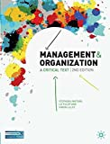 img - for Management and Organization: A Critical Text book / textbook / text book