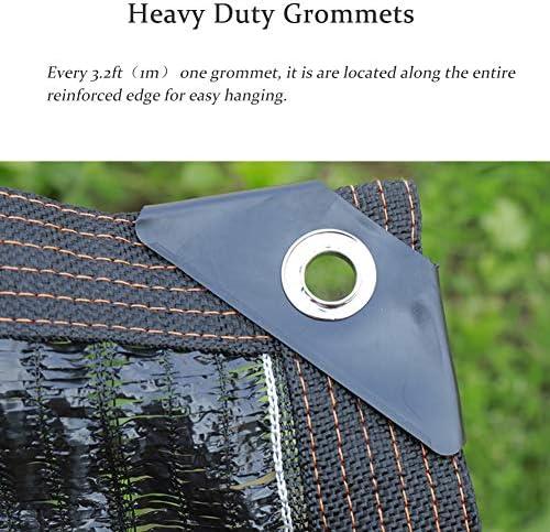 T.heng Bordo Nastrato Nero 85% Panno con Occhielli, Rete Anti-UV Resistente ai Raggi Solari, per Rete Esterna per Cortile (Size : 2x4m)