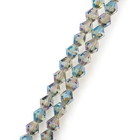Bicone - Separador de cuentas de cristal para pendientes ...
