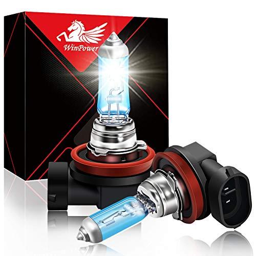 WinPower H11 55W High Brightness Halogen Replacement Headlight Bulb 5500K, Pack of 2