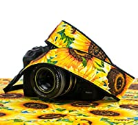 Camera Strap 307, Sunflowers dSLR SLR