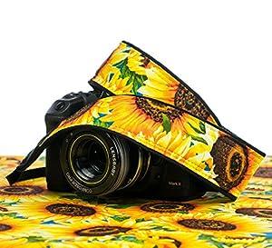 Camera Strap 307, Sunflowers dSLR SLR