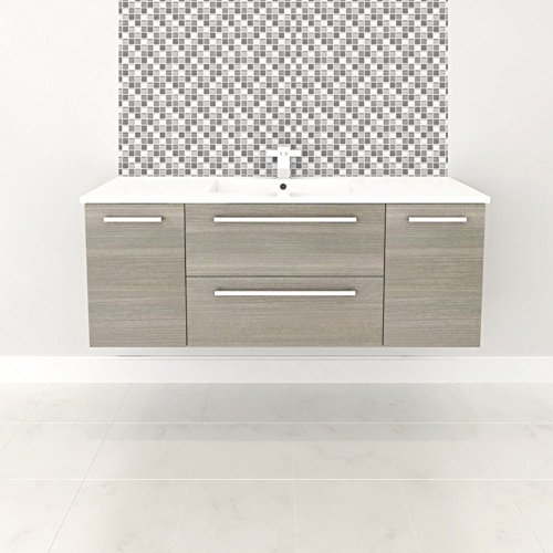 Wall Hung Vanity (Cutler Kitchen & Bath Silhouette 48 in. Wall Hung Bathroom Vanity)