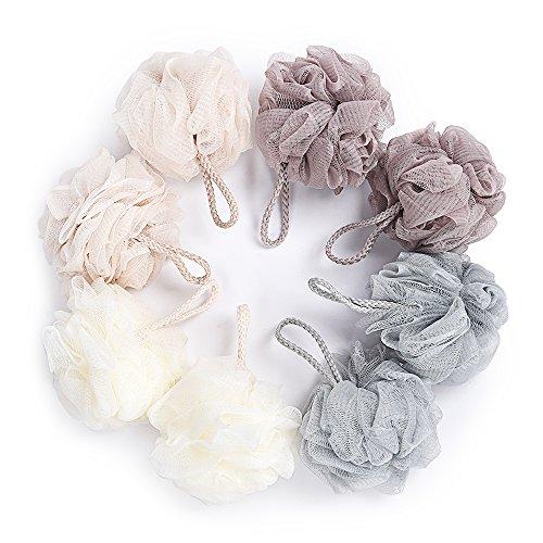 - Bath Sponge, Loofahs Exfoliating Mesh Ball Body Bath Pouf Shower Wash Luffa Cleanse Soft 8 Packs 40 Gram Each for Men and Women by KRRAMEL