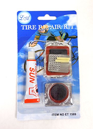 Tire Repair Kit for Synthetic or Natural Rubber Inner Tubes for Bicycles and Cars
