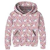 Unicorn Teens Girls Pullover Hooded Sweatshirts Cute Kids Athletic Pockets Hoodie Long Sleeve 12-14 Years