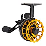 Fiblink Inline Ice Fishing Reel Right/Left Handed 2.7:1 Gear Ratio Mental Fishing Raft Wheel Ice Reels (Left Handed) For Sale