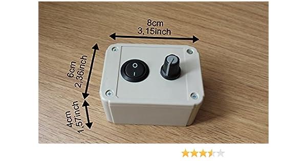 Regulador Regulador de velocidad para motor Ventilador extractor con regulador de intensidad 1000W-230 V: Amazon.es: Bricolaje y herramientas