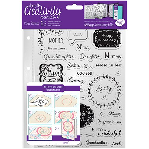 Stamps Family (DOCrafts DCE907108 Creativity Essentials A5 Clear Stamps, Female Family)
