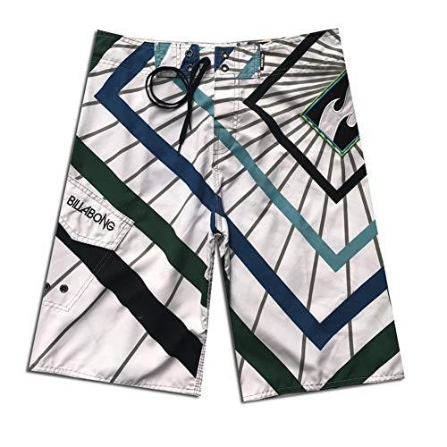 Spiaggia Casual Navyspot Rapida A Pantaloncini Surf Uomo Classici Pantalone Asciugatura Bianca Strisce Ad Da qwnn6H4S