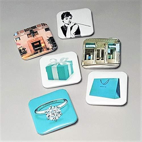 Tiffany & Co Breakfast At Tiffany's Movie Gifts Jewelry Pin Shopping Bag Audrey Hepburn Set Of Six 6 1.5