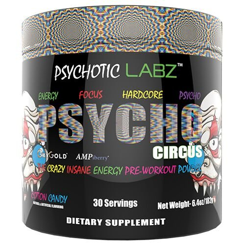 Psychotic Labz Psycho Circus Supplement, Cotton Candy, 0.7 Pound