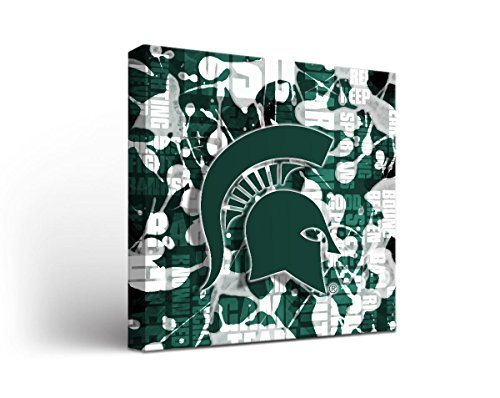 UPC 704256417550, Michigan State Spartans Canvas Wall Art Fight Song Design (24x24)