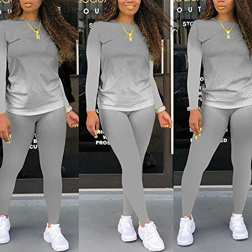 Womens Fashion 2 Piece Outfits Jogging Tracksuit Pullover Hoodie Sweatpants Set Jumpsuits Lounge Wear