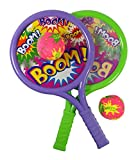 Liberty Imports Boom Drum Tennis Racket Sports Toy Set for Kids | Summer Beach Lawn Play Game Includes 2 Rackets & Soft Balls