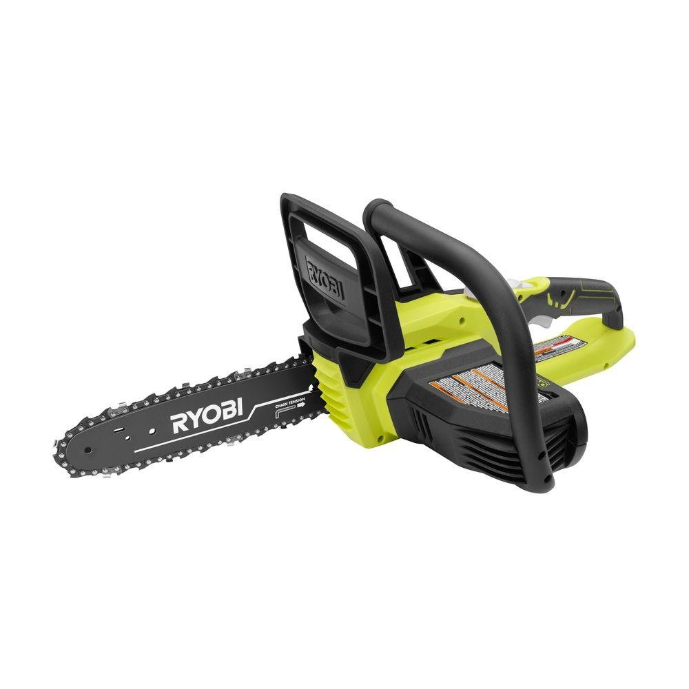 Ryobi P546A 10 in. ONE 18-Volt Lithium Cordless Chainsaw Tool Only – Battery and Charger NOT Included