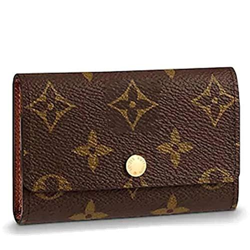 Keychain Bag Case (Tri-fold Key Case - Full Grain Leather 6 Key Holder Case Key Car Wallets Key Holder Bag Key Purse Pouch (class))