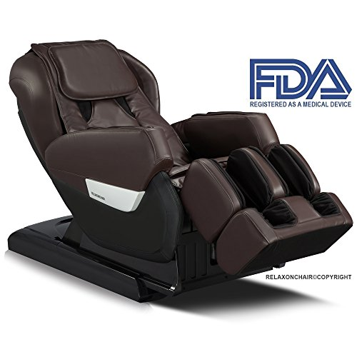 Relaxonchair MK-IV Full Body Zero Gravity Shiatsu Massage Chair with Built Heating and Air Massage System, Dark Chocolate (White Glove Delivery) (Massage Site Chair)