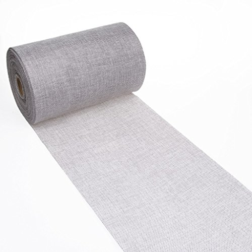 Shabby Chic table runner - Linen look table runner - col.23 - grey - 8 by 72, 90, 96, 108. - inch - 69-200-5-23 -