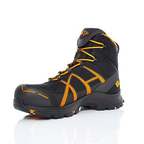HAIX Black Eagle Safety 40 Mid black/orange S3-Sicherheitsschuhe bieten Arbeitsschutz für Handwerk und Industrie