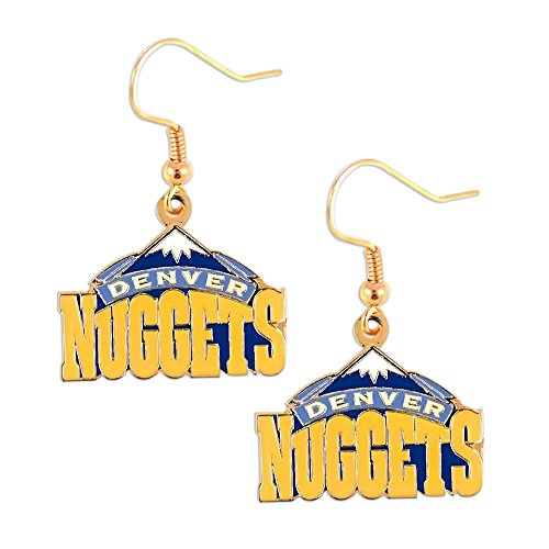 aminco Denver Nuggets NBA Sports Team Logo French Hook Style Charm Gift Dangle Earring - Dangle Nugget