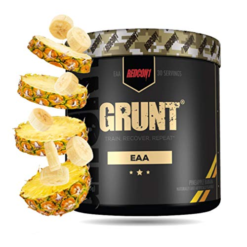 Redcon1 Grunt, EAAs, 30 Servings, Recover Faster, 9 Essential Amino Acids 30 Servings, Complete Protein Source…