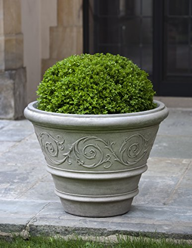 Pv Rim (Campania International P-557-PV Arabesque Rolled Rim Planter, Pietra Vecchia Finish)
