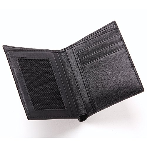 Black Bifold Men Leather Casual Wallet Genuine Leather Wallet Skin tail Business Crocodile ZxqBB