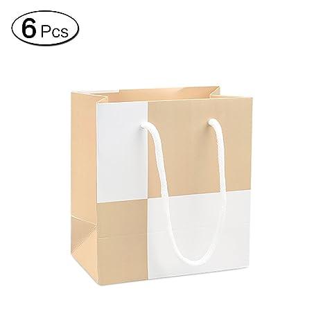 Amazon.com: Jia Hu 6pcs moda bolsas de regalo con asas ...