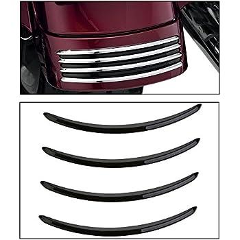 FLHRXS Chrome Kuryakyn 7797 Motorcycle Accessory: Rear Fender Accent Set for 2006-19 Harley-Davidson FLHX FLTRX Motorcycles