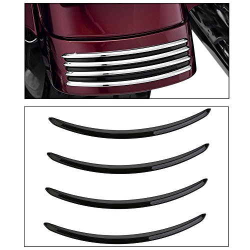 (ECLEAR Chrome Rear Fender Accents For Harley Street Glides FLHX Road)