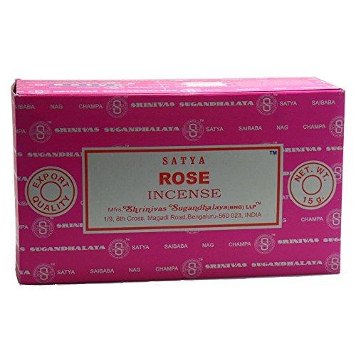 Satya Nag Champa Rose Incense Sticks, 12 Count