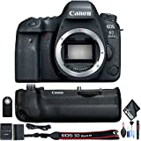Canon EOS 6D Mark II DSLR Camera (Body Only) Battery Grip, Cleaning Kit Starter Bundle International Model