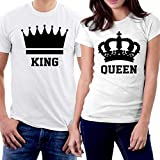 lil boosie t shirt - picontshirt King and Queen Couple T-Shirts Men M/Women XS Black Crowns